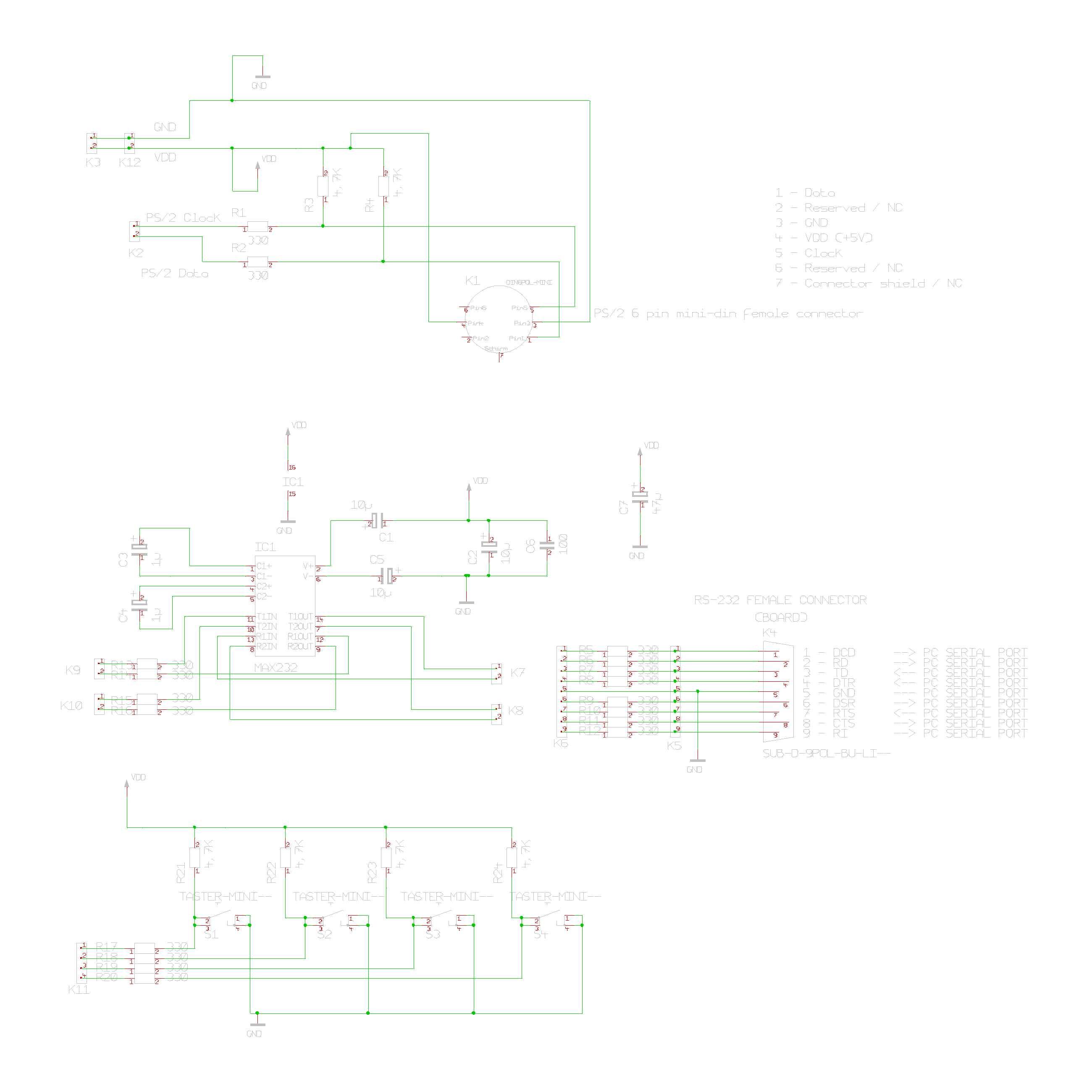 Schemi Elettrici Rs : Connessione di microcontrollori a porte rs e dispositivi ps