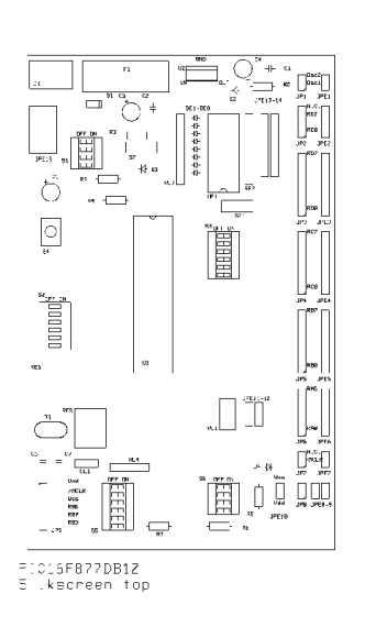 pic 16f877    16f874 development board v  1 2